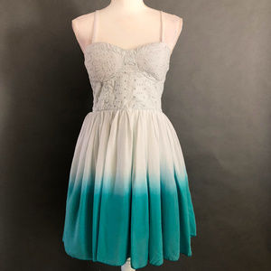 White To Blue Ombre Dress